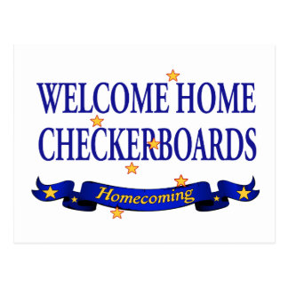 Welcome Home Checkerboards Postcard