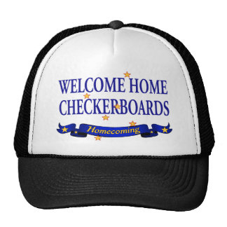 Welcome Home Checkerboards Trucker Hat