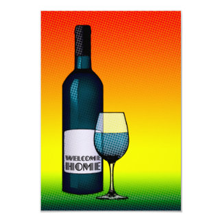 welcome home cheers 3.5x5 paper invitation card
