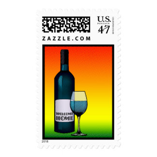 welcome home cheers postage stamp