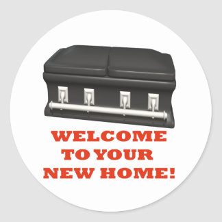 Welcome Home Classic Round Sticker