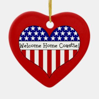 Welcome Home Coastie! Ceramic Ornament