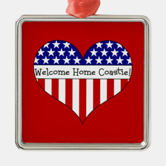 Welcome Home Coastie! Metal Ornament