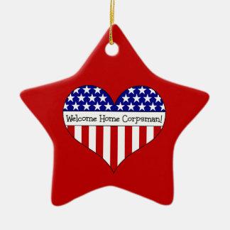 Welcome Home Corpsman! Ceramic Ornament