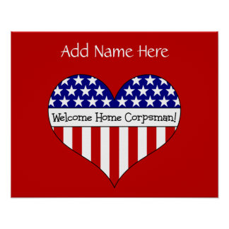 Welcome Home Corpsman! (Customizable Name) Poster