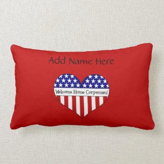 Welcome Home Corpsman! (Customizable Name) Throw Pillow