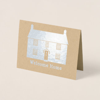Welcome Home - Cottage with Your Own Text Foil Card