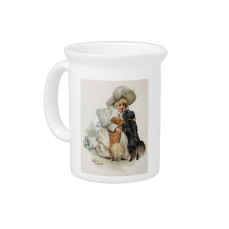 Welcome Home Cute Vintage Terrier Dogs Pitchers