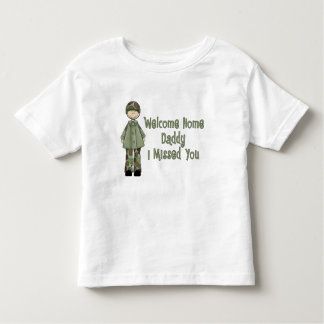 Welcome Home Daddy Army Brat (Son) Toddler T-shirt