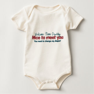Welcome home daddy baby bodysuit