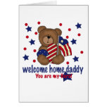 Welcome Home Daddy Bear Greeting Cards