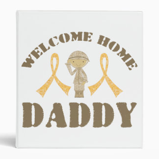 Welcome Home Daddy 3 Ring Binder