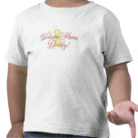 Welcome Home Daddy ribbon Tee Shirts