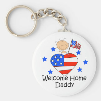 Welcome Home Daddy Stick Figure Baby Keychain