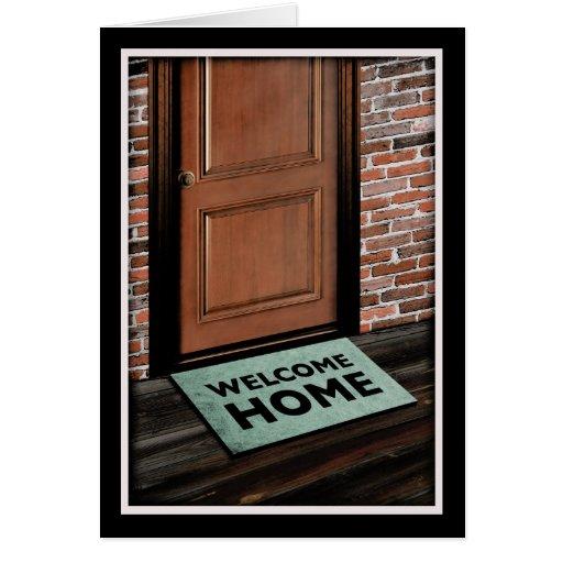 Welcome Home Door Mat Card Zazzle