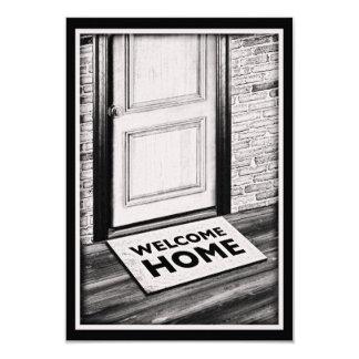 welcome home door mat photograph card