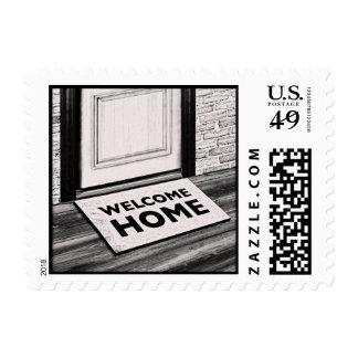 welcome home door mat photograph postage