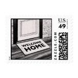 welcome home door mat photograph stamp