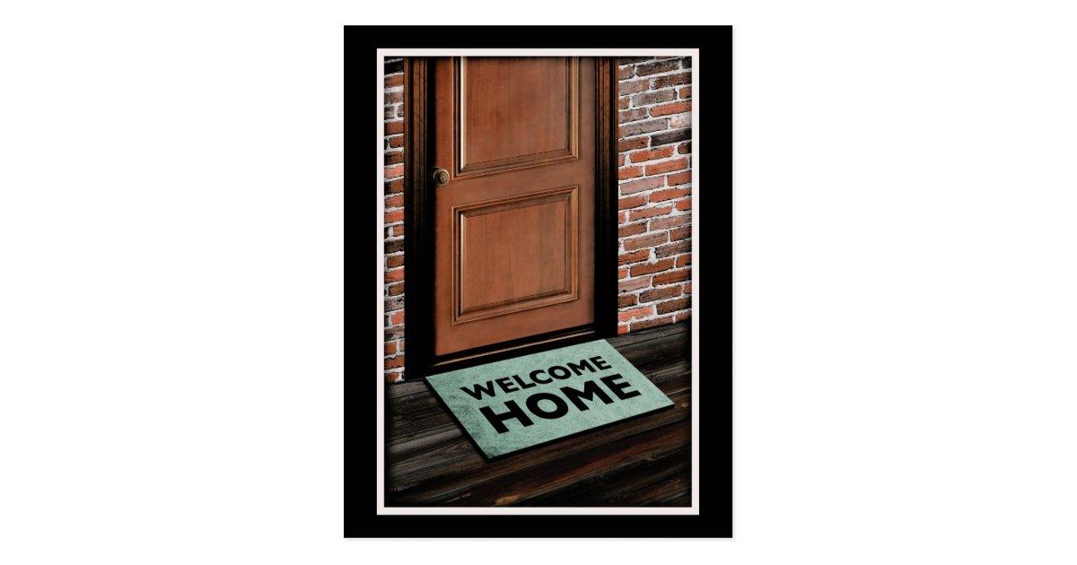 Welcome Home Door Mat Postcard Zazzle