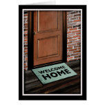 welcome home door mat stationery note card