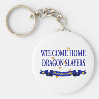 Welcome Home Dragon Slayers Basic Round Button Keychain