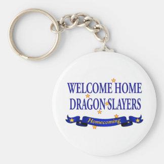 Welcome Home Dragon Slayers Keychain