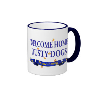 Welcome Home Dusty Dogs Ringer Mug