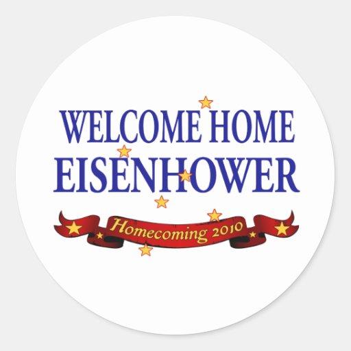 Welcome Home Eisenhower Classic Round Sticker