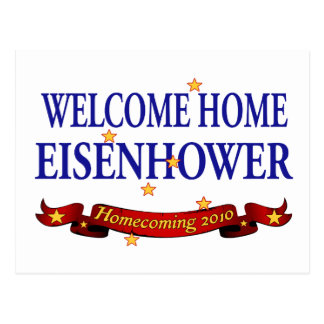 Welcome Home Eisenhower Postcard