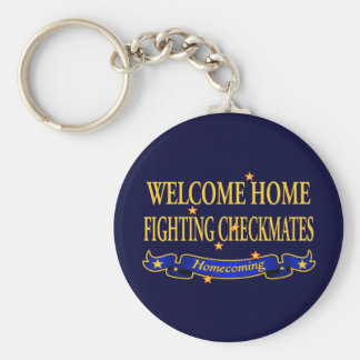 Welcome Home Fighting Checkmates Basic Round Button Keychain