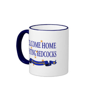 Welcome Home Fighting Redcocks Mugs