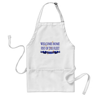 Welcome Home Fist of the Fleet Adult Apron