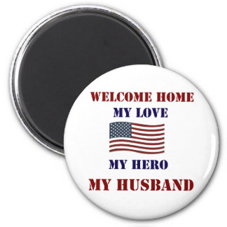 Welcome Home Flag Magnet