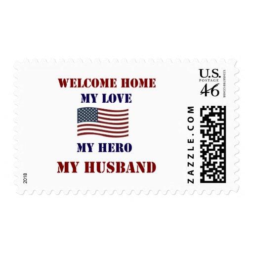 Welcome Home Flag Postage