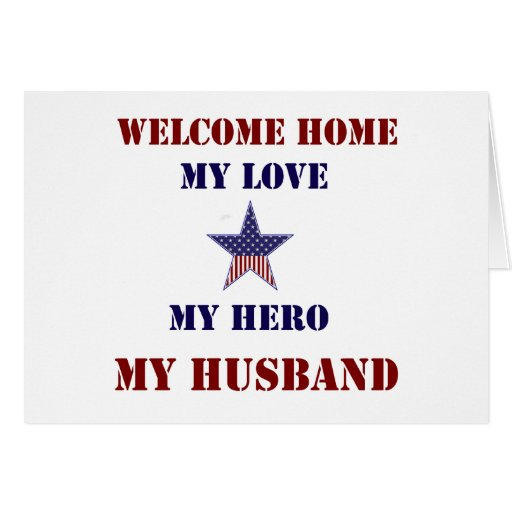 Welcome Home Flag Star Greeting Card