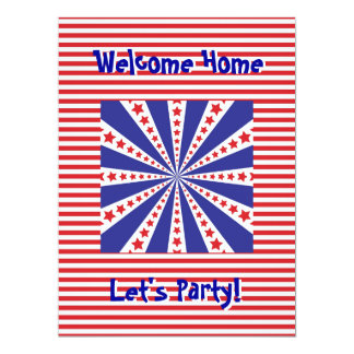 Welcome Home From Military Service PartyInvitation 6.5x8.75 Paper Invitation Card