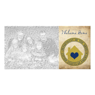 welcome home from the army (heart seal) card