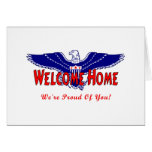 Welcome Home From The Military Stationery Note Card