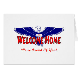 Welcome Home From The Military Greeting Card