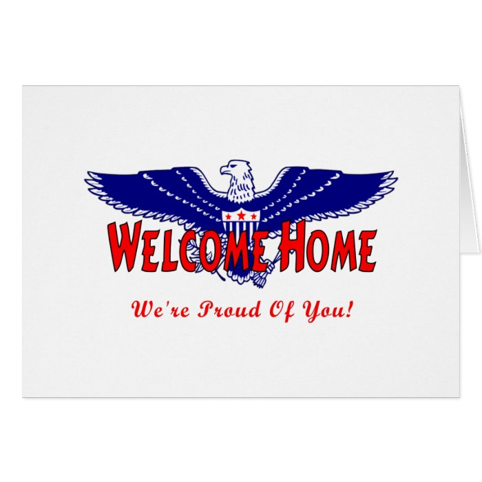 Welcome Home From The Military Card