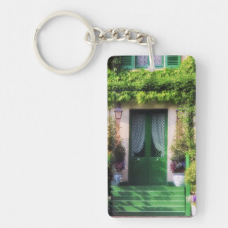Welcome Home Garden Facade Keychain