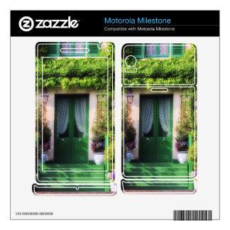 Welcome Home Garden Facade Motorola Milestone Decal