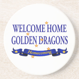 Welcome Home Golden Dragons Drink Coaster