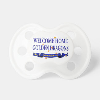 Welcome Home Golden Dragons Baby Pacifiers