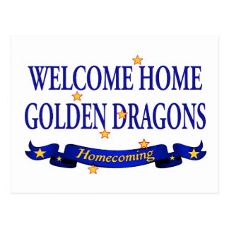 Welcome Home Golden Dragons Postcard