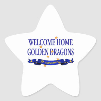 Welcome Home Golden Dragons Star Sticker