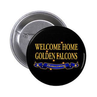 Welcome Home Golden Falcons 2 Inch Round Button