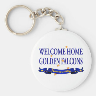Welcome Home Golden Falcons Basic Round Button Keychain
