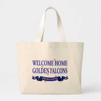 Welcome Home Golden Falcons Jumbo Tote Bag