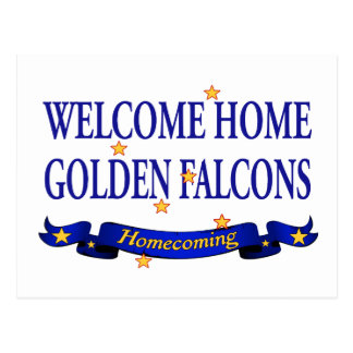 Welcome Home Golden Falcons Postcard